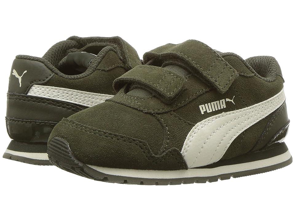 Puma Kids ST Runner v2 SD V (Toddler) (Forest Night/Whisper White) Boy