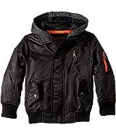 Urban Republic Kids - Hooded Sherpa Moto Jacket (Toddler)