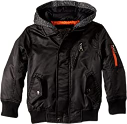 Urban Republic Kids - Hooded Sherpa Moto Jacket (Toddler)