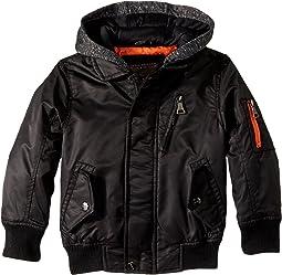 Hooded Sherpa Moto Jacket (Toddler)