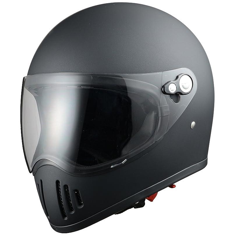 統合ボルト要塞シレックス(Silex) 雷神(RAIJIN) マットシャインブラック Mサイズ(59-60CM未満) ZS728-MBM フルフェイス ヘルメット