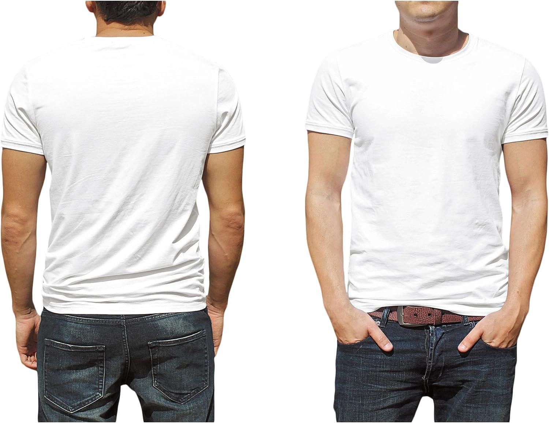 Andrew Scott Big Man 6 Pack Military Green Cotton Crew Neck Short Sleeve T Shirts