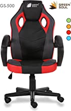 Green Soul PVC Leather and Mesh Conqueror Series Gaming/Desk Chair (Black and Red; Medium)
