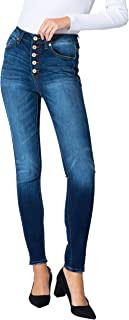 KanCan Jeans Victoria High-Rise Exposed Button Wash Skinny Jeans - kc7113