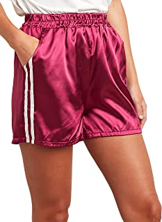 Striped Panel Detail Runner Shorts For Women Closet by Styli