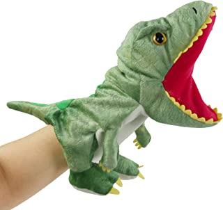 Bstaofy Plush Dinosaur Hand Puppet T-rex Stuffed Toy Open Movable Mouth for Creative Role Play Gift for Kids Toddlers on B...