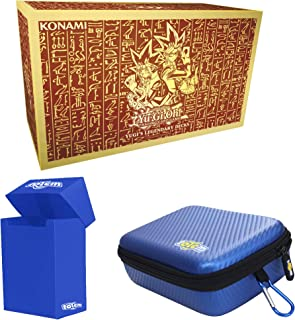Totem World Yugioh Yugi's Legendary Decks TCG Holiday Kings of Game Collector's Box Set with a Blue Totem Deck Box and Zipper Case