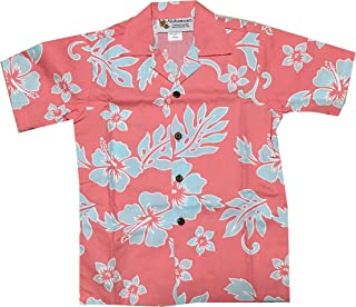 Made in Hawaii ! Boy's Classic Hibiscus Hawaiian Aloha Shirt