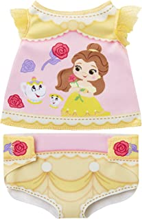 My Disney Nursery Baby Doll Clothes & Accessories, Diaper Accessory Pack Inspired by Disney's Beauty & The Beast Belle Character! Includes Doll T-Shirt, Doll Diaper Cover, Clip with Charm