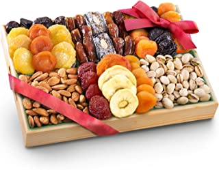 Pacific Coast Deluxe Dried Fruit Tray with Nuts Gift with Almonds and Pistachios for Holiday Birthday Healthy Snack Busine...