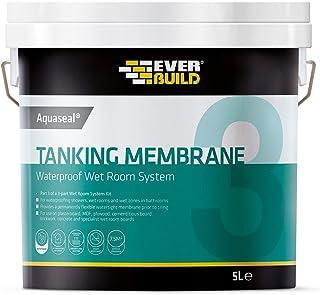 Sika EVBAQWPTM Aquaseal Waterproof Tanking Membrane, 5 Litre, Blue