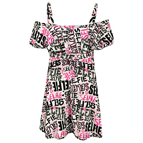 650614d43b A2Z 4 Kids® Girls Skater Dress Kids Floral Print Summer Party Off Shoulder  Dresses New