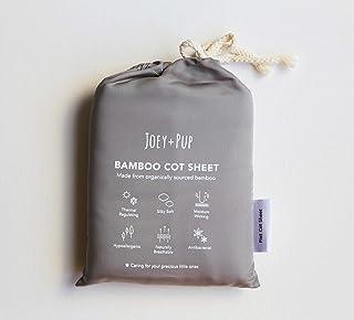 Organic Bamboo Baby Cot Sheet Flat Sheet (Dark Grey)
