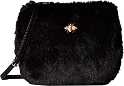 BSB3546 Crossbody Fur Handbag with Bug Detail