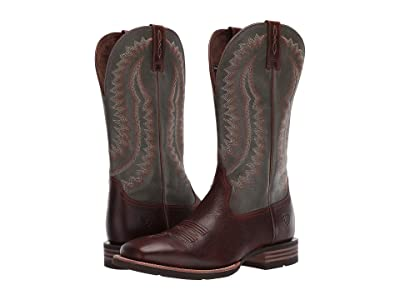 Ariat Hot Iron (Brown Patina/Shamrock Green) Cowboy Boots