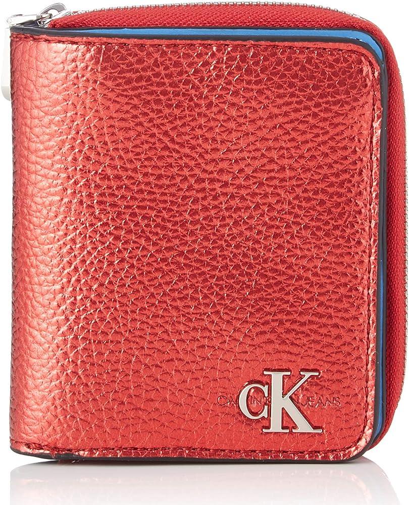 Calvin klein , portafoglio per donna , in ecopelle martellata K60K606635