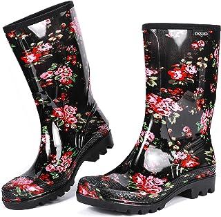 Rain Boots for Women Waterproof Elastic Wellington Boots