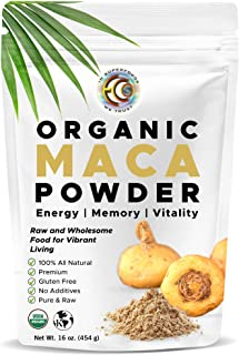 Earth Circle Organics - Organic Maca Root Powder, Natural Superfood, Helps with Energy, Hormone, Weight and Women's Fertil...