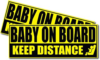 Wrapco Baby on Board Sticker for Cars Baby Safety Sign Decal, Auto Baby on Board Sign for Vehicles
