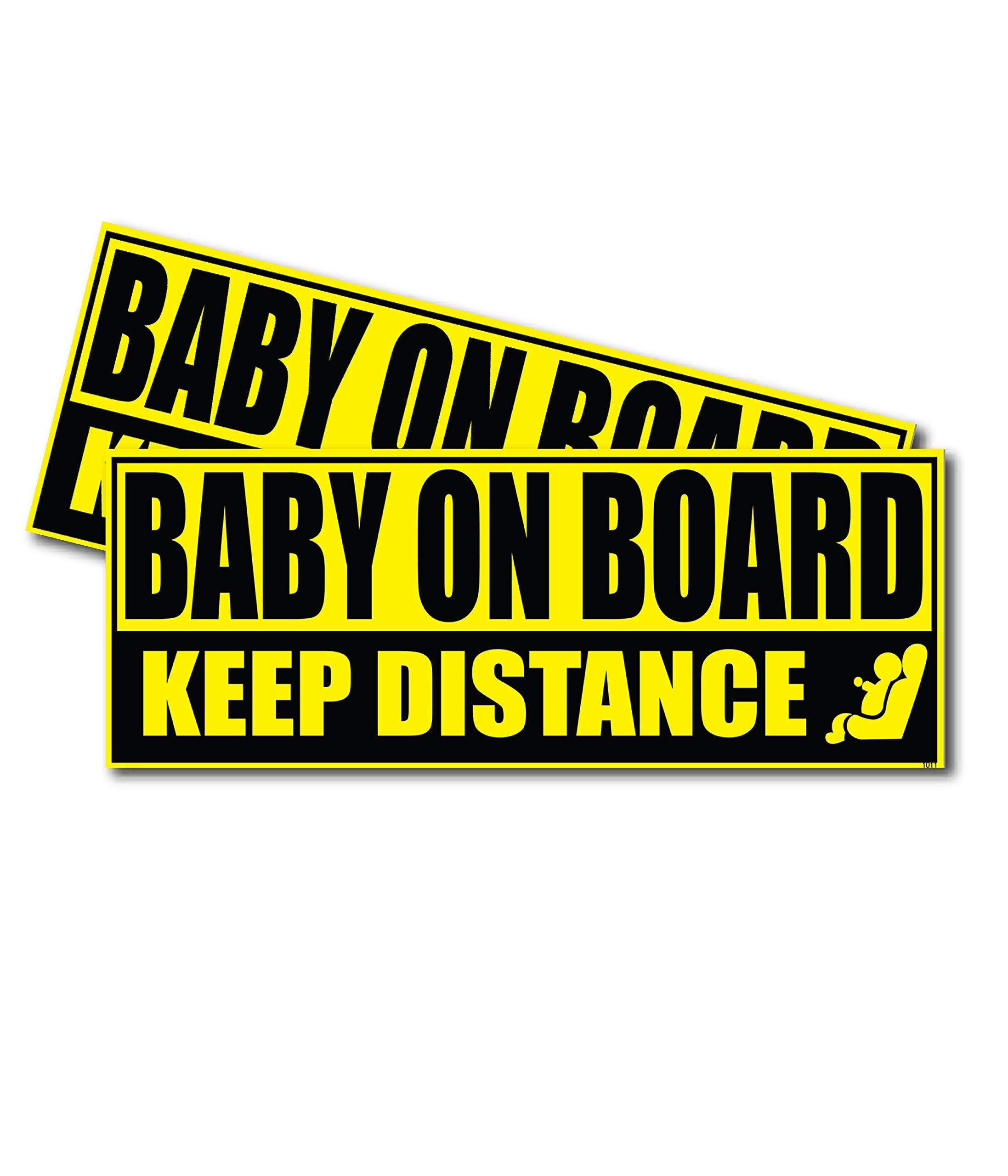 Bebé a Bordo Advertencia Seguridad Firmar Pegatina para el parachoques del vehículo de vinilo coche Windows