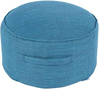 KU Syang New Design Round High Strength Sponge Cushion Tatami Cushion Meditation Yoga Round Mat Chair Cushions Hap-Navy Blue