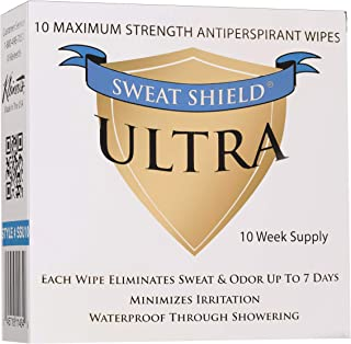 Sweat Shield Ultra Antiperspirant - Clinical Strength - Reduce Sweat Up To 7-Days Per Use (Pack of 10)