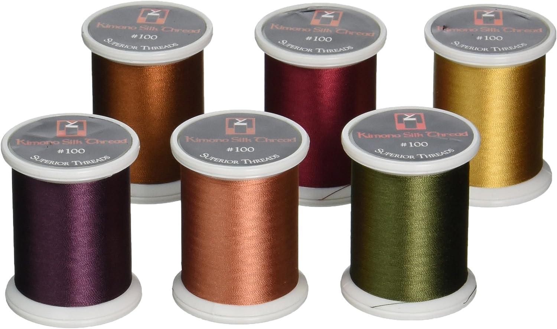 Superior Threads Kimono Ranking TOP12 Silk #100 Thread Quilting Max 84% OFF Spoo 220 Yards