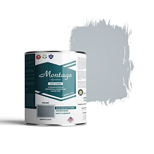 Montage Signature Interior/Exterior Eco-Friendly Paint, Blue Bayou - Low Sheen, 1 Gallon