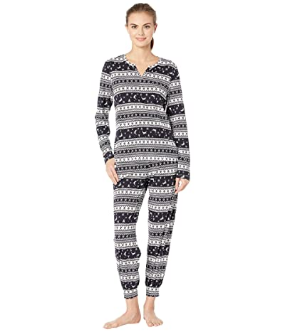 Cosabella Ski Trip Printed Pima Cotton PJ Set (Nocturnal Sky/Moon Ivory) Women