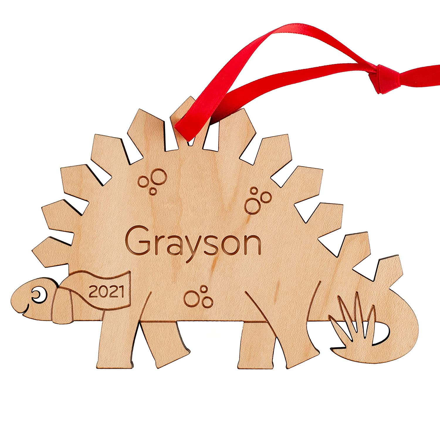 Dinosaur Ornament Personalized Stegosaurus Baby's Christma Los Angeles Mall Special price First