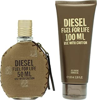 Diesel Fuel For Life for Men - 2 Pc Gift Set  EDT Spray 150ml
