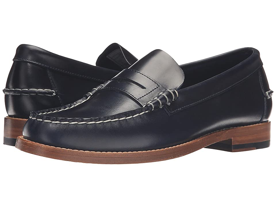 Sebago Legacy Penny (Navy Leather) Men