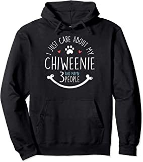 Chiweenie Hoodie for Dog Owners - I Just Care About