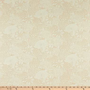 "Wilmington Prints Wilmington Essentials 108"" Quilt Backing Floral Toile, Cream Yard"