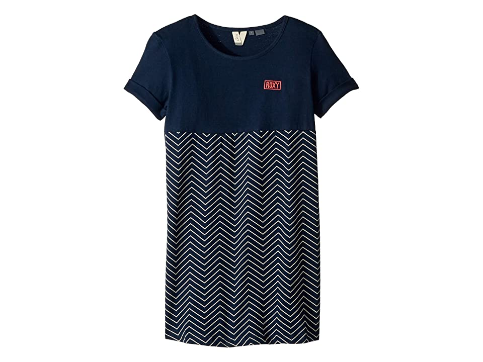Roxy Kids Night Jungle Dress (Big Kids) (Dress Blues Zigzag Stripes) Girl