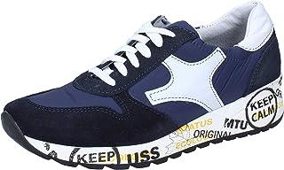 BRUNO VERRI Sneaker Uomo Pelle Scamosciata Blu