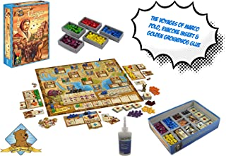 The Voyages of Marco Polo Board Game, Fitted Evacore Insert Organizer and Golden Groundhog Glue Board Game Bundle!