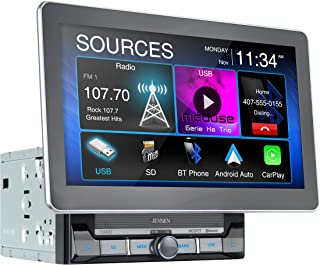 Jensen CAR10 10-inch Capacitive LCD Digital Multimedia Adjustable Touch Screen Double DIN Car Stereo | Apple CarPlay Andro...
