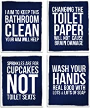 Amazon Com Navy Blue Bathroom Wall Decor