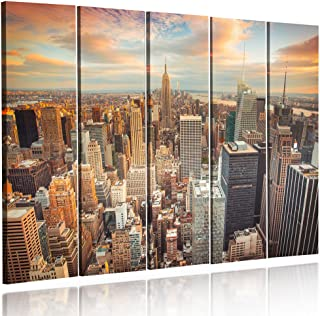 XXL 5003 Quadro su tela Quadri moderni New York finestra 120 x 80 cm  modello