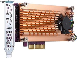 Qnap QM2-2S-220A Dual M.2 22110/2280 SATA SSD Expansion Card (PCIe Gen2 X2), Low-Profile Bracket Pre-Loaded, Low-Profile F...