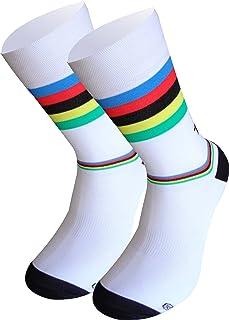 TKS Campeon del Mundo Calcetines Lagos Media Caña Tradicional. Compresion Ligera calcetin especifico de Ciclismo, Running Y Trailrunning