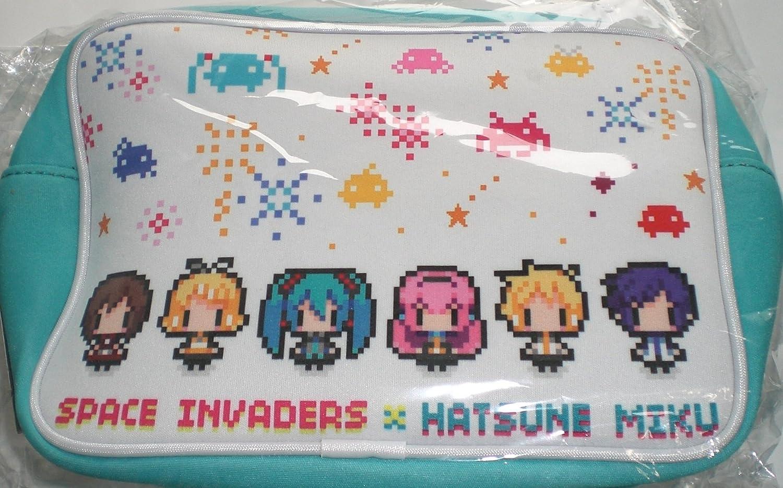 Hatsune Miku  SPACE INVADERS Square porch white single item SPACE INVADERS Miku Space Invaders Taito TAITO
