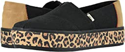 Black Leopard Wrap Canvas Platform