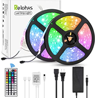 Led Strip Lights, 32.8ft/10M SMD5050 Waterproof RGB Strip Lights, Led Color Changing Strip Lighting with 44 Key Remote Controller for Home Kitchen Bed Flexible Strip Lights for Bar Home Decor
