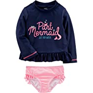 Simple Joys by Carter's Baby and Toddler Girls' 2-Piece Rashguard Set