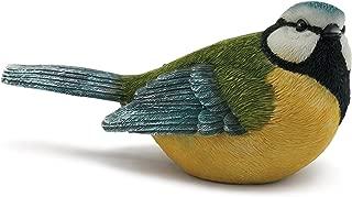 Napco Sitting, Watchful Blue Bird Textured Look 5 x 2.5 Resin Stone Garden Figurine