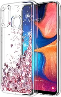 Samsung Galaxy A20 Case, Samsung Galaxy A30 Case, Rosebono Quicksand Glitter Sparkly Bling Liquid Shiny Clear Soft TPU Bumper Protective Cover for Samsung Galaxy A20/A30