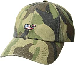 Camo Flag Whale Baseball Hat