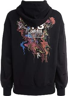 Y-3 Man's Black Sweatshirt with Toketa Print